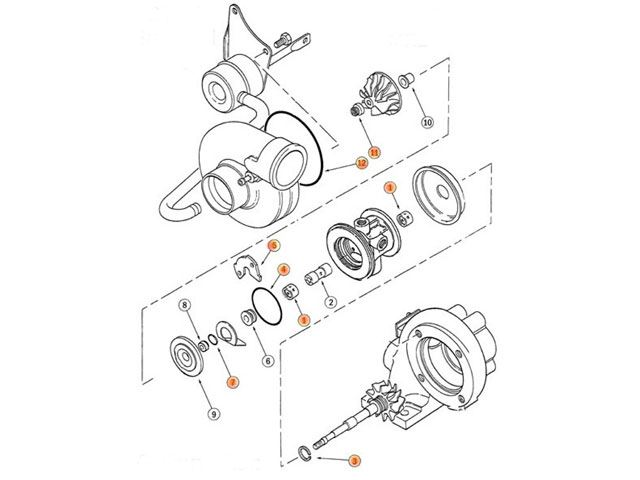 toyota ct26 standard turbo rebuild kit