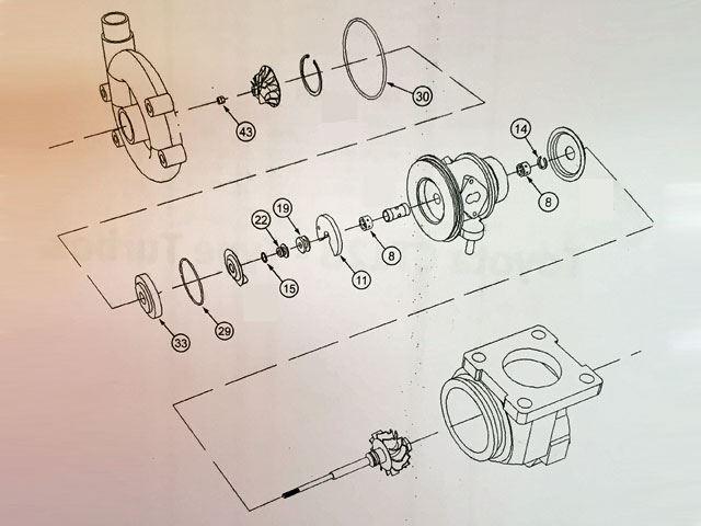 Toyota Ct12b Complete Turbo Rebuild Kit