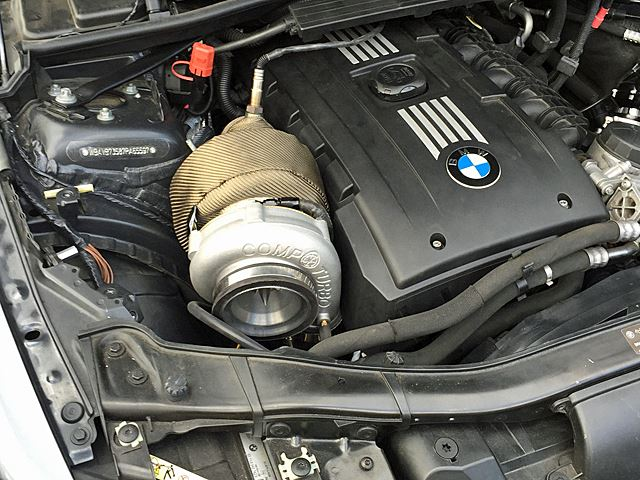 2007-2010 BMW 135i 335i N54 Top Mount Single Turbo Kit