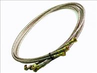 -3an 4ft Braided Stainless Steel Oil Feed Line