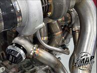 MAP T4 Twin Scroll Top Mount Turbo Kit for 2008-2012 Mitsubishi EVO